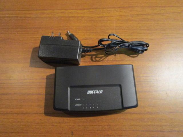BUFFALO/バッファロー スイッチングハブ LSW3-TX-5EP/BKを買取させていただきました。