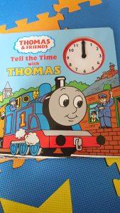 トーマス 時計付き 英字絵本