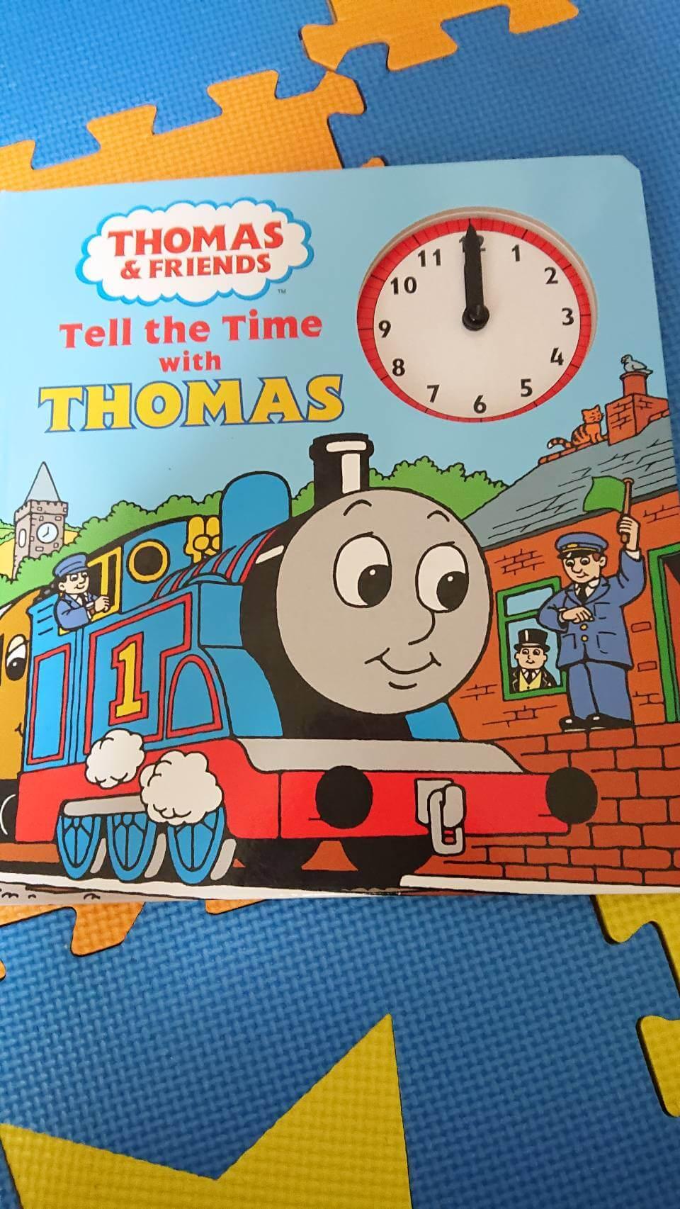 トーマス 時計付き 英字絵本を買取させていただきました。